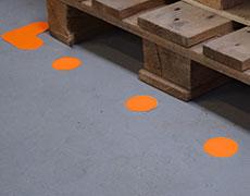 Bodenmarkierung Formstücke