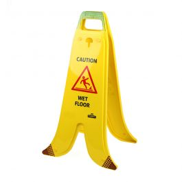 Zusammenklappbarer Warnaufsteller für nasse Böden Banana