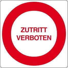 """Bodenpiktogramm für """"Zutritt verboten"""""""