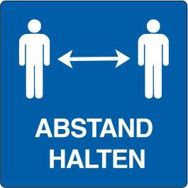 "Aufkleber ""Abstand Halten"" (Maxi-Loka Premium)"