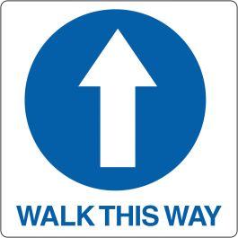 """Bodenpiktogramm für """"Walk This Way"""""""