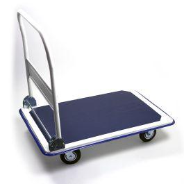 Foldable steel platform trolley, load capacity 300 kg
