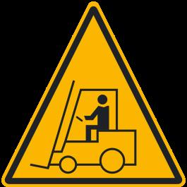 """Anti-Rutsch Bodenpiktogramm: """"Warnung vor Flurförderzeugen"""""""
