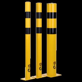 Rammschutzpoller aus Stahl für die Bodenbefestigung