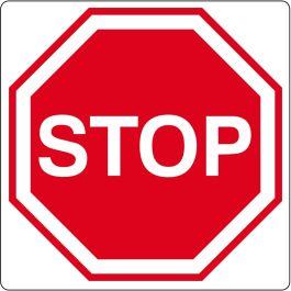 """Bodenpiktogramm für """"Stop"""""""