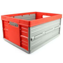 Klappkiste - 32 Liter - rot und grau