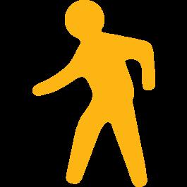 Fußweg-Piktogramm zur Bodenmarkierung, rutschfest