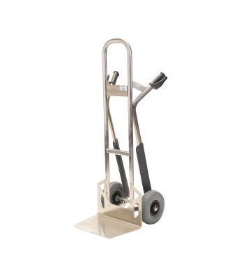 Matador aluminum hand truck with stair gliders, 350 kg capacity