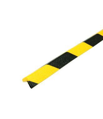PRS-Eckschutz, Modell 45 - schwarz-gelb - 1 Meter