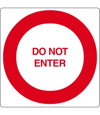 "Bodenpiktogramm für ""Do Not Enter"""