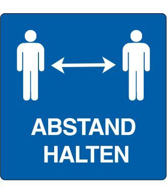"""Bodenpiktogramm für """"Abstand Halten"""""""