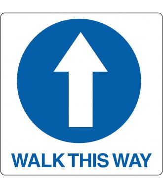 "Bodenpiktogramm für ""Walk This Way"""