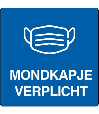 "Floor pictogram for ""Mouth Cap Required"" Dutch 2"