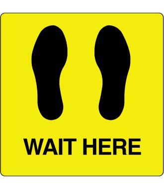 """Bodenpiktogramm für """"Wait Here"""""""