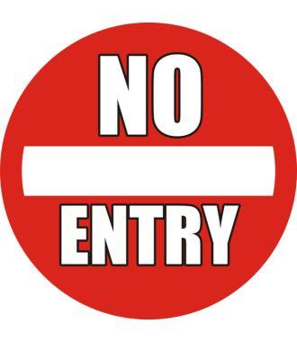 "Anti-Rutsch Bodenpiktogramm: ""No Entry"""
