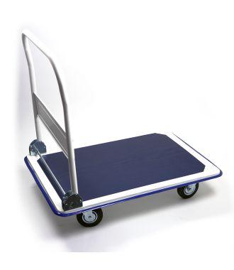 Plattformwagen aus Stahl mit klappbarem Schiebebügel, Tragkraft 300 kg