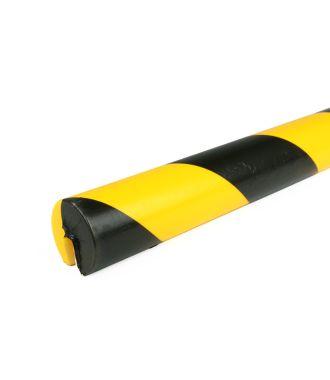 PRS-Schutzprofil für Kanten, Modell 2 - schwarz-gelb - 1 Meter