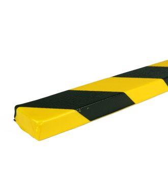 PRS-Schutzprofil für flache Oberflächen, Modell 43 - schwarz-gelb - 1 Meter
