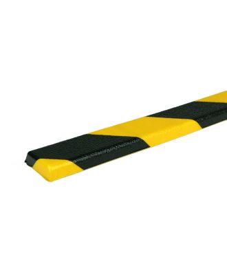 PRS-Schutzprofil für flache Oberflächen, Modell 44 - schwarz-gelb - 1 Meter