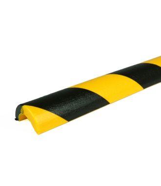 PRS-Schutzprofil für Rohre, Modell 5 - schwarz-gelb - 1 Meter