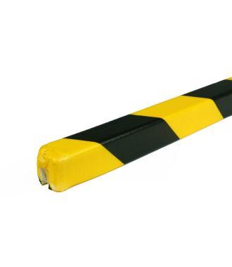 PRS-Schutzprofil für Kanten, Modell 9 - schwarz-gelb - 1 Meter