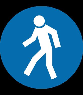 """Anti-Rutsch Bodenpiktogramm: """"Für Fußgänger"""""""