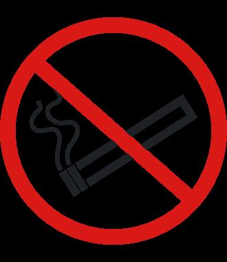 "Anti-Rutsch Bodenpiktogramm: ""Rauchen verboten"""