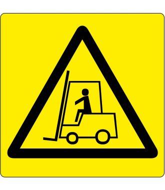 """Bodenpiktogramm für """"Warnung vor Flurförderzeugen"""""""
