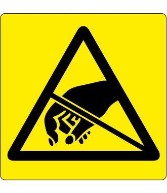 Bodenpiktogramm - Warnung vor elektrostatisch gefährdeten Bauelementen ESD
