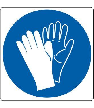 """Bodenpiktogramm für """"Handschutz benutzen"""""""