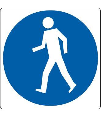 """Bodenpiktogramm für """"Fußgängerweg benutzen"""""""