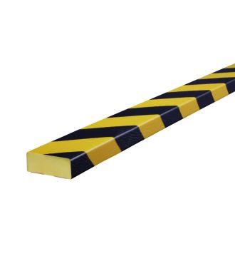 Knuffi Flächenschutz für ebene Flächen, Typ D - schwarz-gelb - 5 Meter