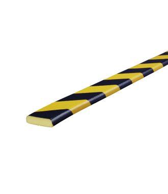 Knuffi Flächenschutz für ebene Flächen, Typ F - schwarz-gelb - 5 Meter