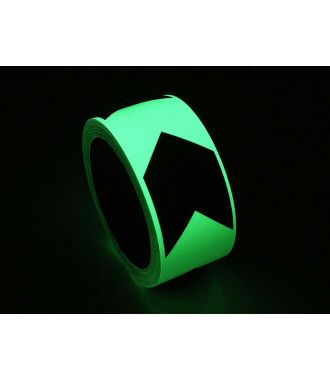 Glow-in-the-Dark-Klebeband mit Richtungsanzeige