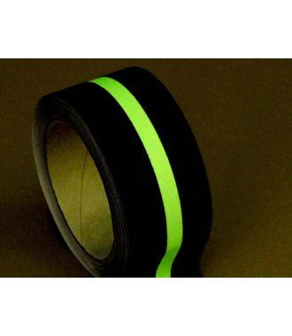 Anti-Rutsch-Klebeband (schwarz) mit Glow-in-the-Dark-Streifen