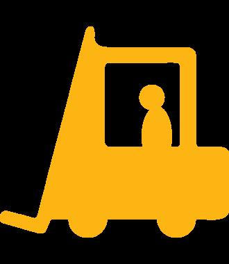 Gabelstapler-Piktogramm zur Bodenmarkierung, rutschfest