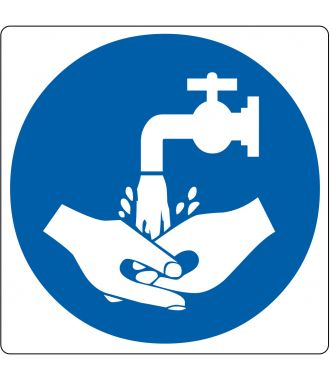 """Hand Wash Required"" sticker (Maxi-Loka Premium)"