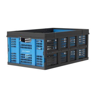 Klappkiste - 49 Liter - blau und schwarz