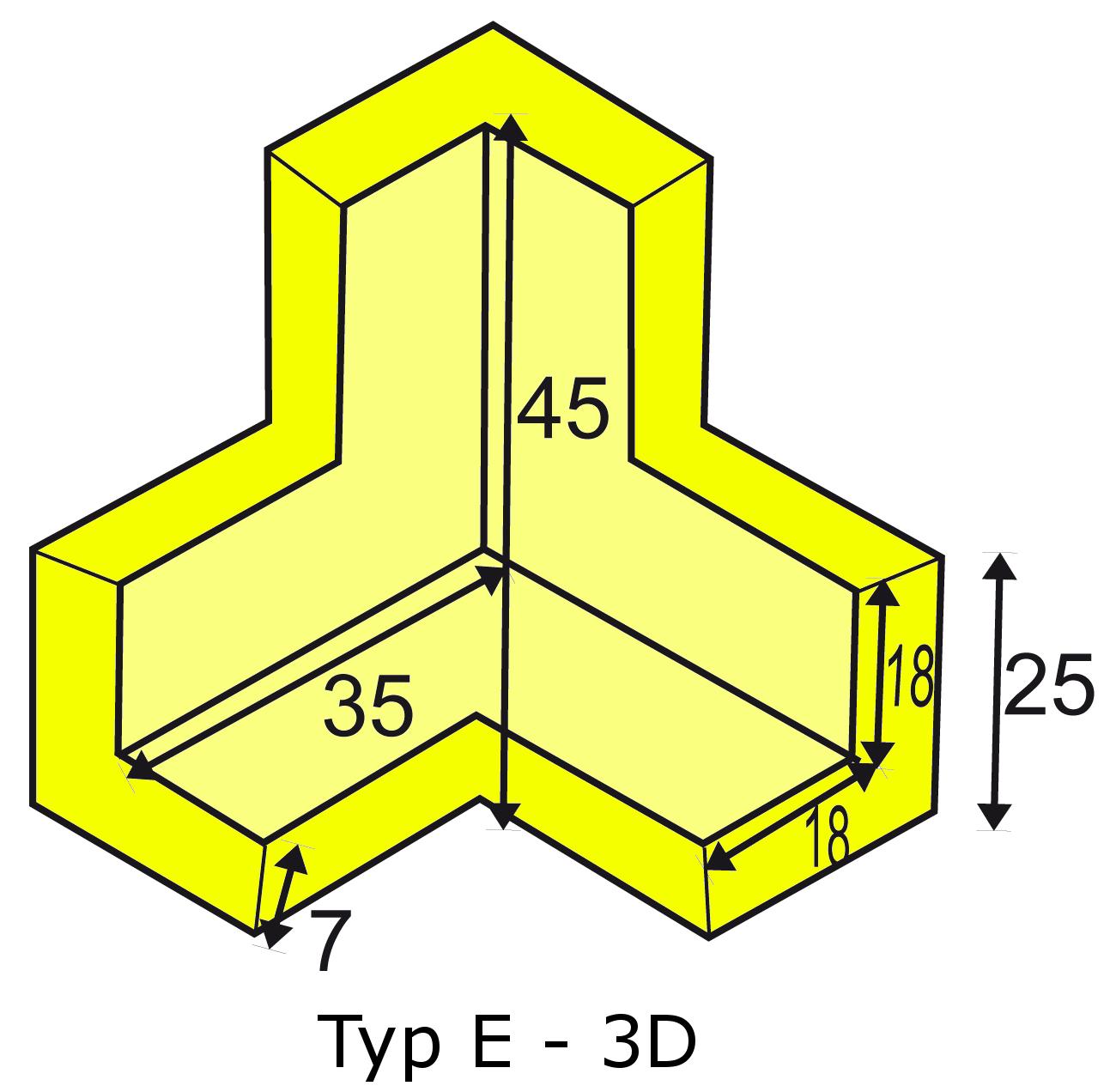 Knuffi multi-corner bumber E-3D type