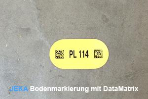 Bodenmarkierung mit DataMatrix-code