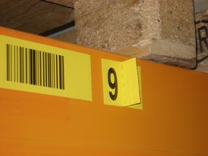 Prüfziffer auf einem separaten Etikett