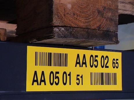Prüfziffern auf Standort-Etiketten