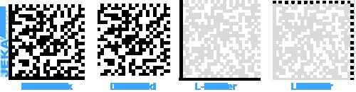 DataMatrix-code Aufbau